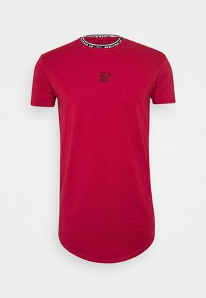 INSET COLLAR GYM TEE - Camiseta estampada - red