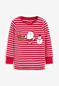 Next - CHRISTMAS APPLIQUÉ STRIPE - Pyjama set - red - 1