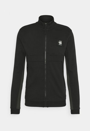 TWEATER BOX GRAPHIC ZIP THROUGH - Collegetakki - black