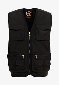 Glorious Gangsta - SOLOMON UTILITY VEST - Väst - black - 4
