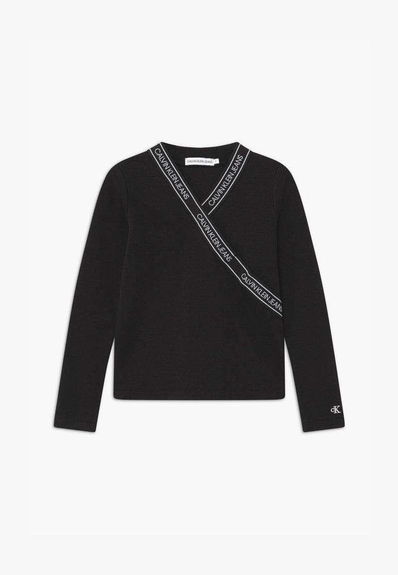 Calvin Klein Jeans - WRAP - Long sleeved top - black