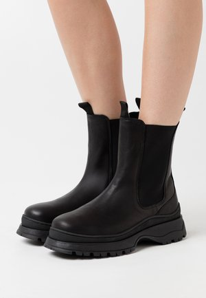 SLFLUCY - Platform ankle boots - black