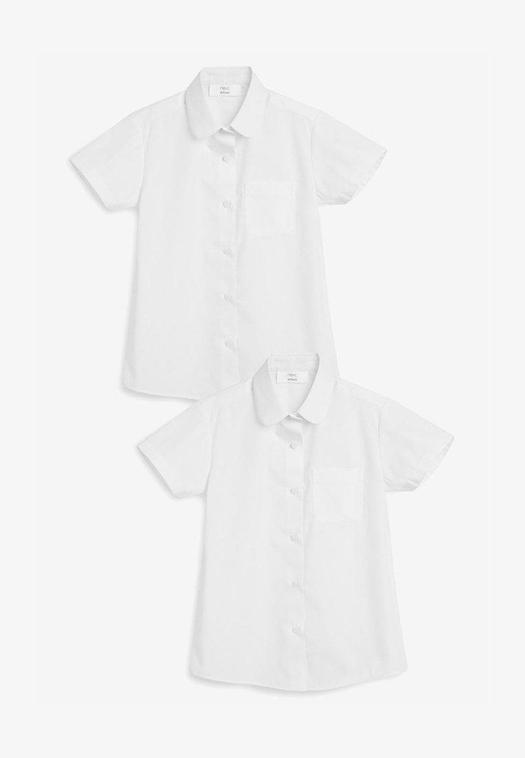 Next - WHITE 2 PACK SHORT SLEEVE CURVED COLLAR SHIRT (3-16YRS) - Košile - white