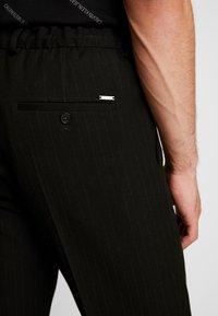 Calvin Klein Tailored - PINSTRIPE TROUSER CASUAL - Trousers - black - 5