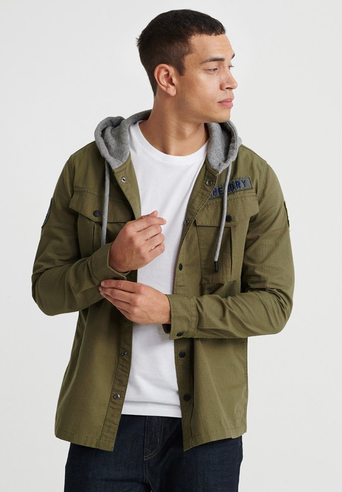 Superdry - UTILITY  - Summer jacket - army green