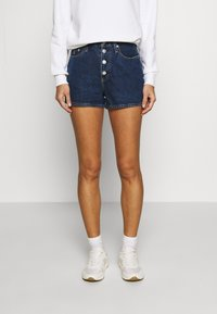 Calvin Klein Jeans - Denim shorts - dark blue stone shank - 0