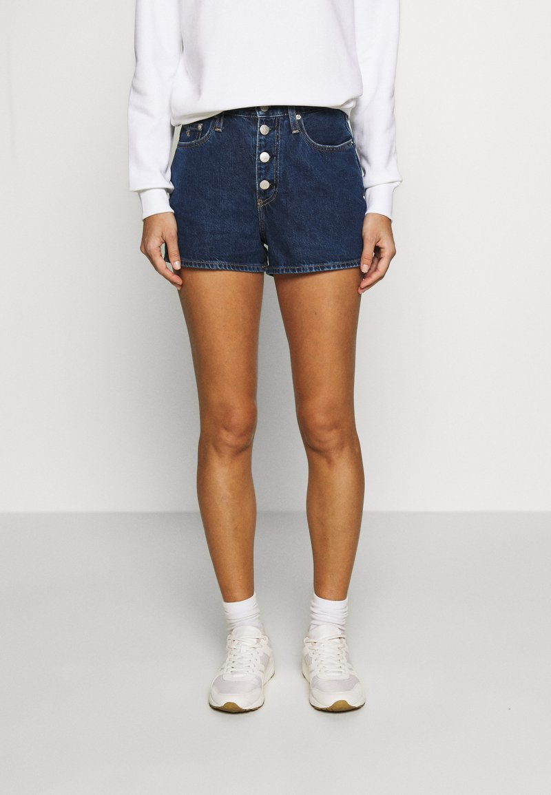 Calvin Klein Jeans - Denim shorts - dark blue stone shank
