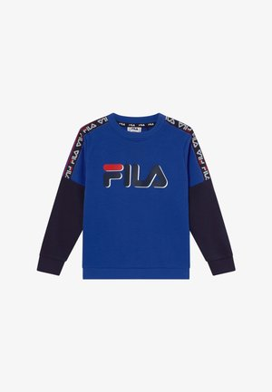 DIEGO TAPED LOGO CREW - Sweatshirt - dazzling blue/black iris