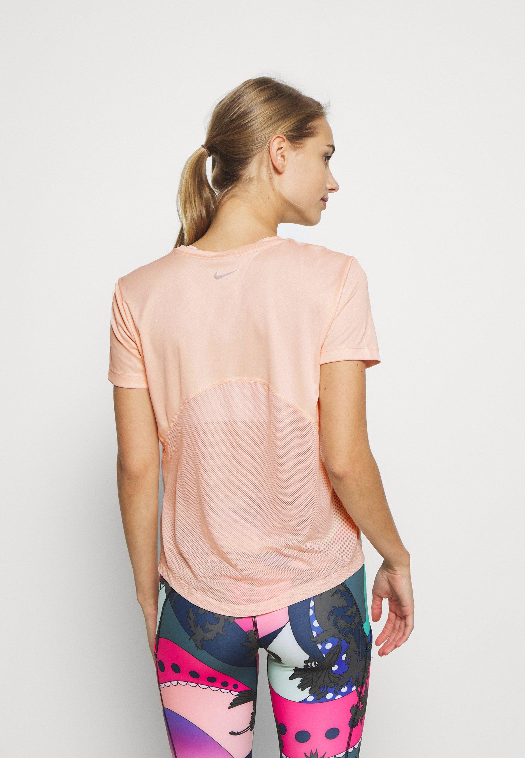 Nike Performance MILER  - Print T-shirt - washed coral zqTwL