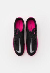 Nike Performance - PHANTOM GT ACADEMY AG - Moulded stud football boots - black/metallic silver/pink blast - 3