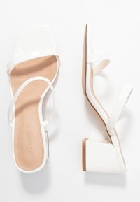 NA-KD - SQUARED TWO STRAP - Heeled mules - white - 3