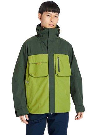 Waterproof jacket - duffel bag calla green