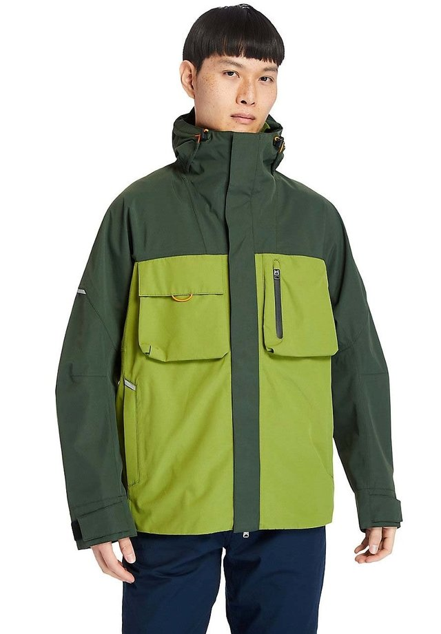Regenjas - duffel bag calla green