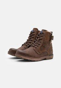 TOM TAILOR - Šněrovací kotníkové boty - rust - 1