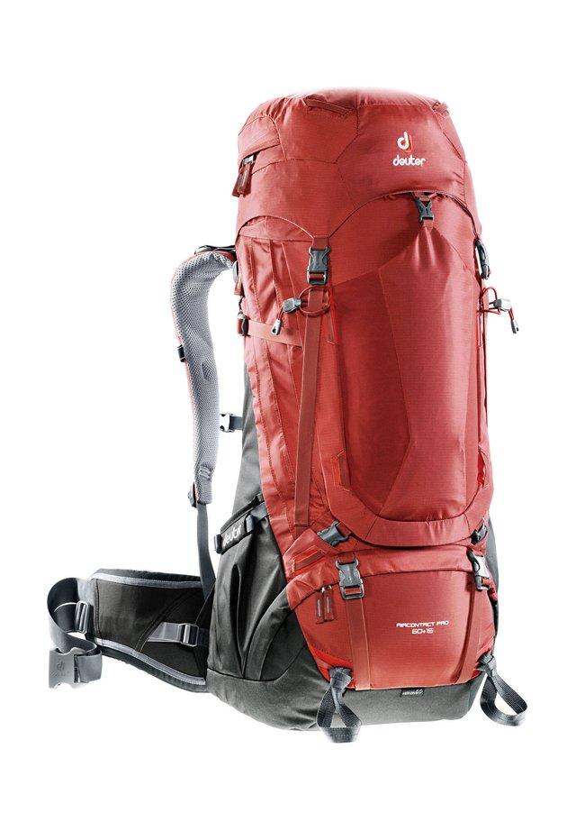 """DEUTER TREKKINGRUCKSACK """"AIRCONTRACT PRO 60 + 15"""" - Hiking rucksack - rot (500)"""
