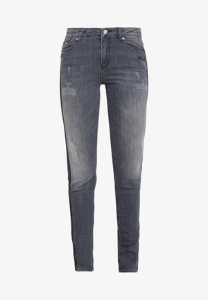 SPARKLE STRIPES - Jeans Skinny Fit - grey denim
