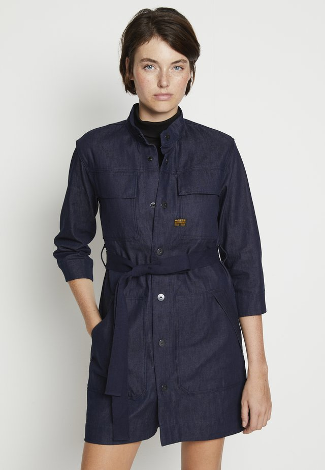 SHIRT DRESS - Denim dress - raw denim