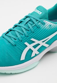 ASICS - SOLUTION SPEED - Tennissko til multicourt - techno cyan/white - 5