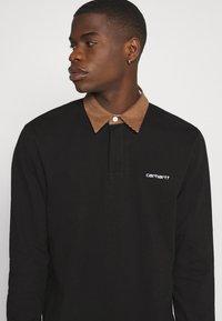 Carhartt WIP - RUGBY POLO - Polo shirt - black/hamilton brown/white - 3