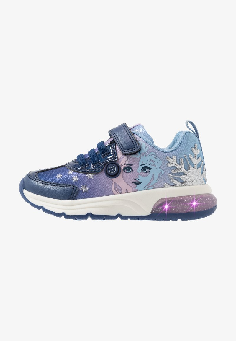 Geox - SPACECLUB GIRL FROZEN ELSA - Trainers - navy/lilac