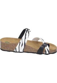 Dr. Brinkmann - T-bar sandals - weiß/zebra - 5
