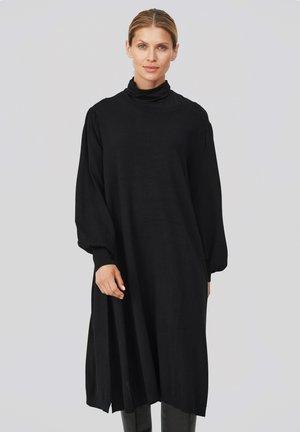 NOLINA - Gebreide jurk - black