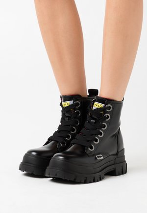 ASPHA LACE UP  - Platform ankle boots - black