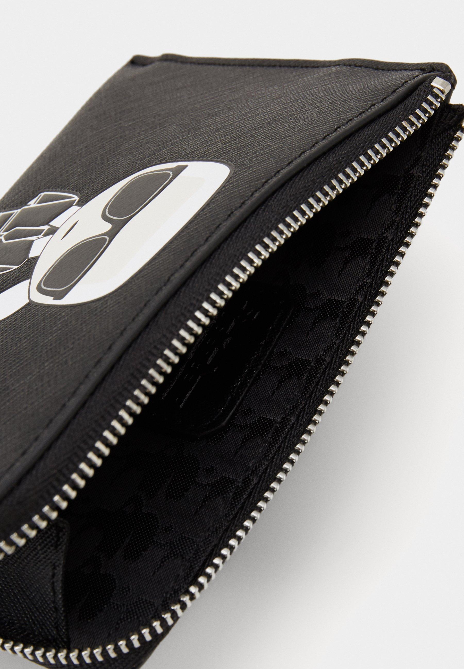 KARL LAGERFELD IKONIK ZIP CARD HOLDER - Lommebok - black/svart ofQSWZXOgCt5Otd