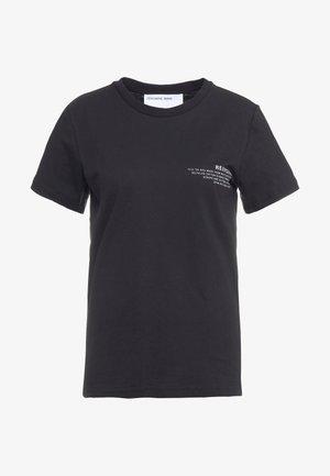 STANLEY TEXT TEE - Print T-shirt - black