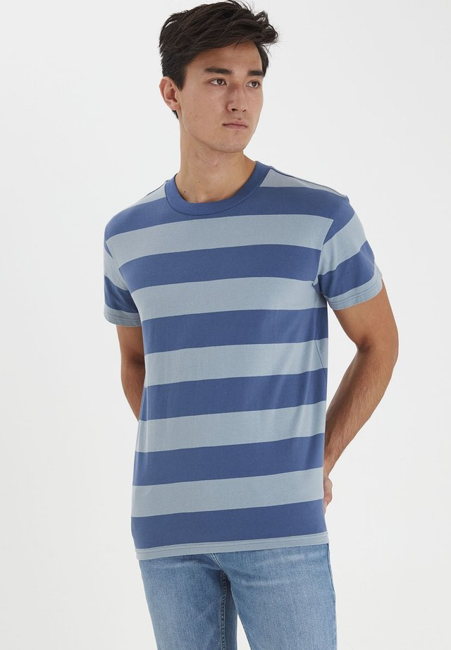 TUE WIDE STRIPED - T-shirt print - true navy