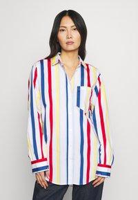 Esprit - PRINTED POPLIN - Skjorte - white - 0