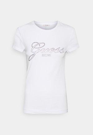 SELINA TEE - T-shirt z nadrukiem - weiß