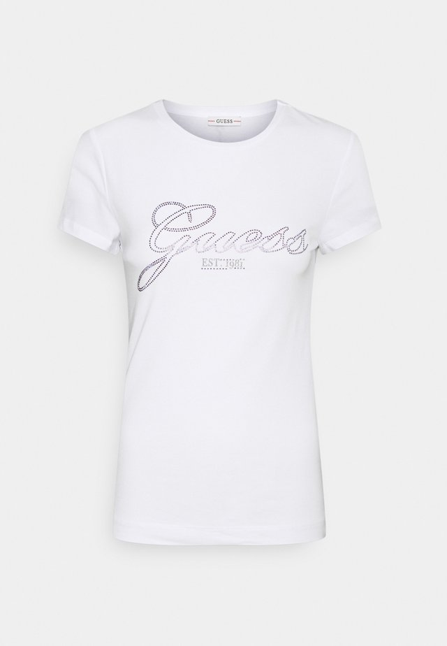 SELINA TEE - Print T-shirt - weiß