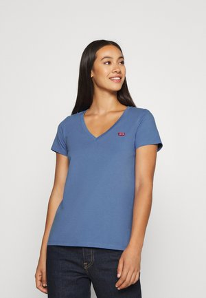 PERFECT V NECK - T-shirts - colony blue