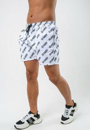 LOGO-REP SWIM SHORT - Swimming shorts - white