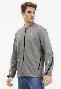 Puma - SCUDERIA FERRARI - Zip-up hoodie - medium gray heather - 0