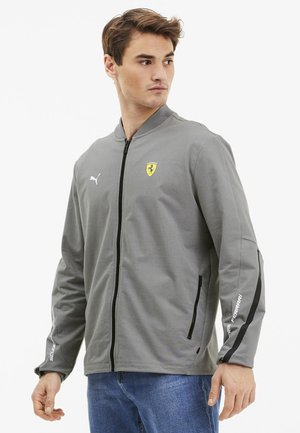 SCUDERIA FERRARI - Zip-up hoodie - medium gray heather