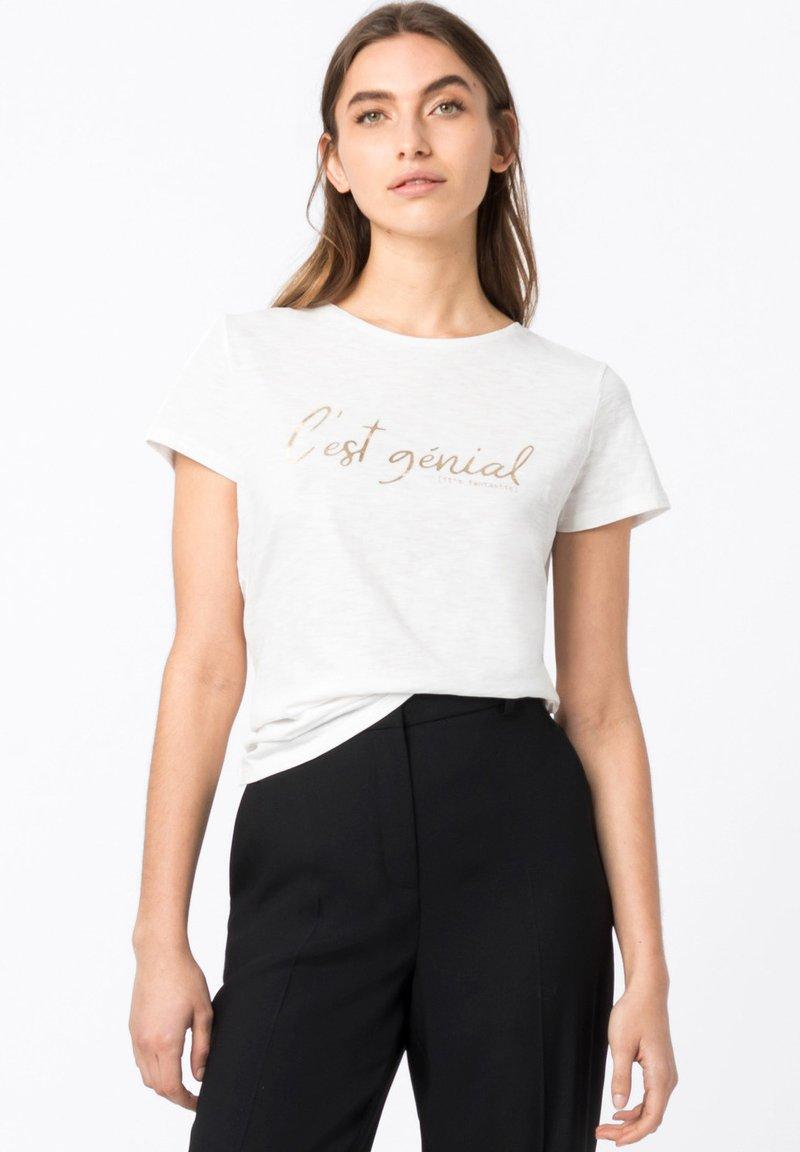HALLHUBER - Print T-shirt - offwhite