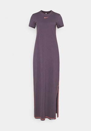 DRESS - Maxi šaty - dark raisin/bright mango