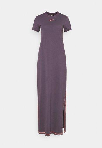 DRESS - Maxi dress - dark raisin/bright mango