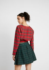 Missguided - SHEERED WAIST LONG SLEEVED CHECK - Blouse - red - 2