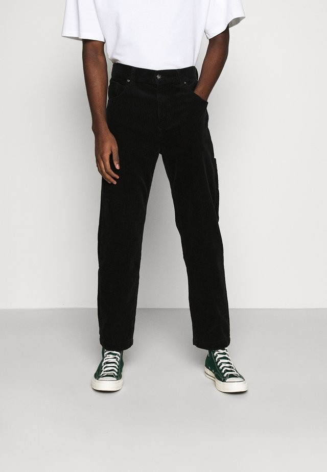 CARPENTER TROUSER - Kangashousut - black