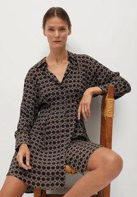 Mango - COSMO - Shirt dress - noir - 4