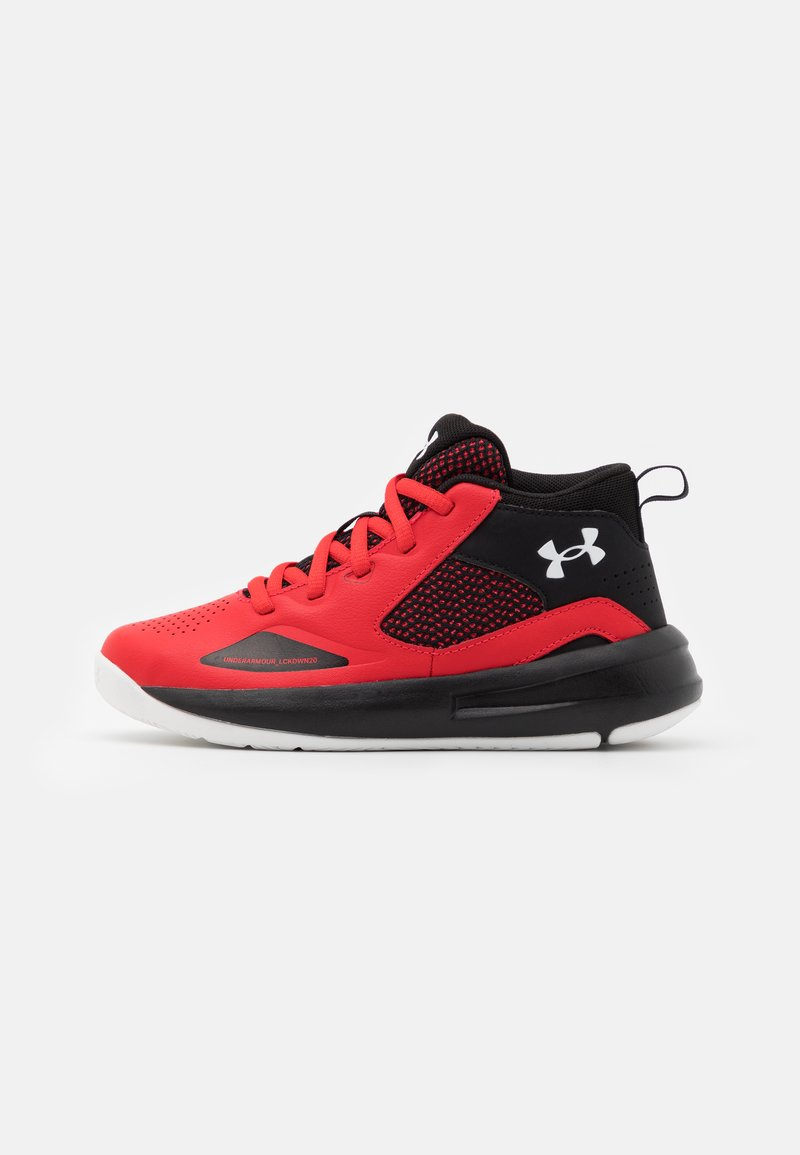 Under Armour - LOCKDOWN 5 UNISEX - Basketball shoes - versa red