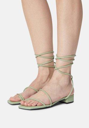 T-bar sandals - green dusty light