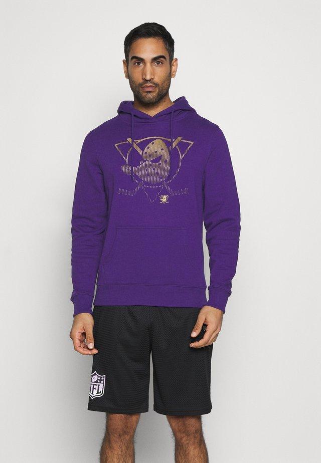 NHL ANAHEIM DUCKS FADE CORE GRAPHIC HOODIE - Equipación de clubes - purple