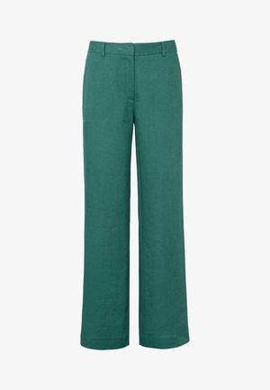 HOSE PASSFORM CORNELIA AUS 100% LEINEN - Trousers - bottle green