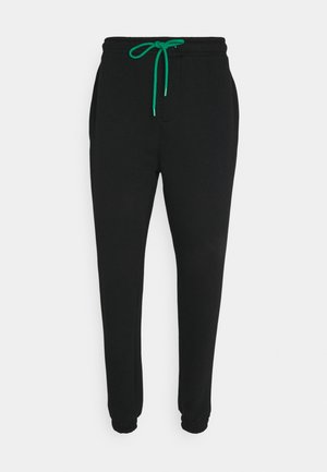 JOGGER WITH POP COLOUR DRAWCORD UNISEX - Träningsbyxor - black