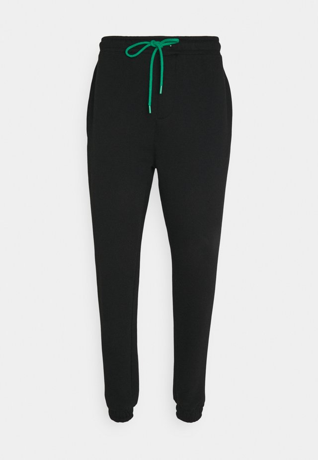 JOGGER WITH POP COLOUR DRAWCORD UNISEX - Pantalon de survêtement - black