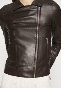 Oakwood - MARJORY - Leather jacket - dark brown - 6